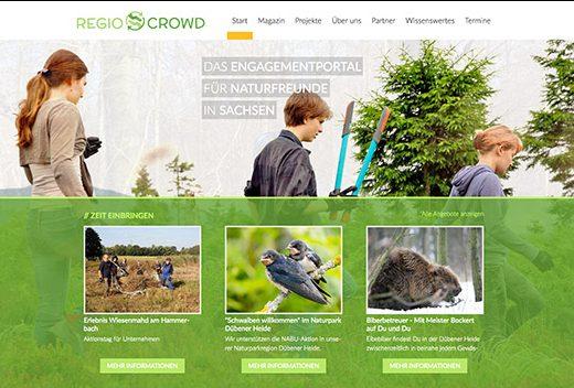 Regiocrowd – Das Engagementportal für Naturfreunde in Sachsen